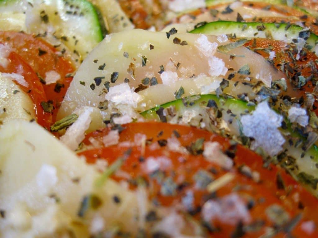 opskrift, taglagte, tomater, squash, kartofler, Taglagte tomater