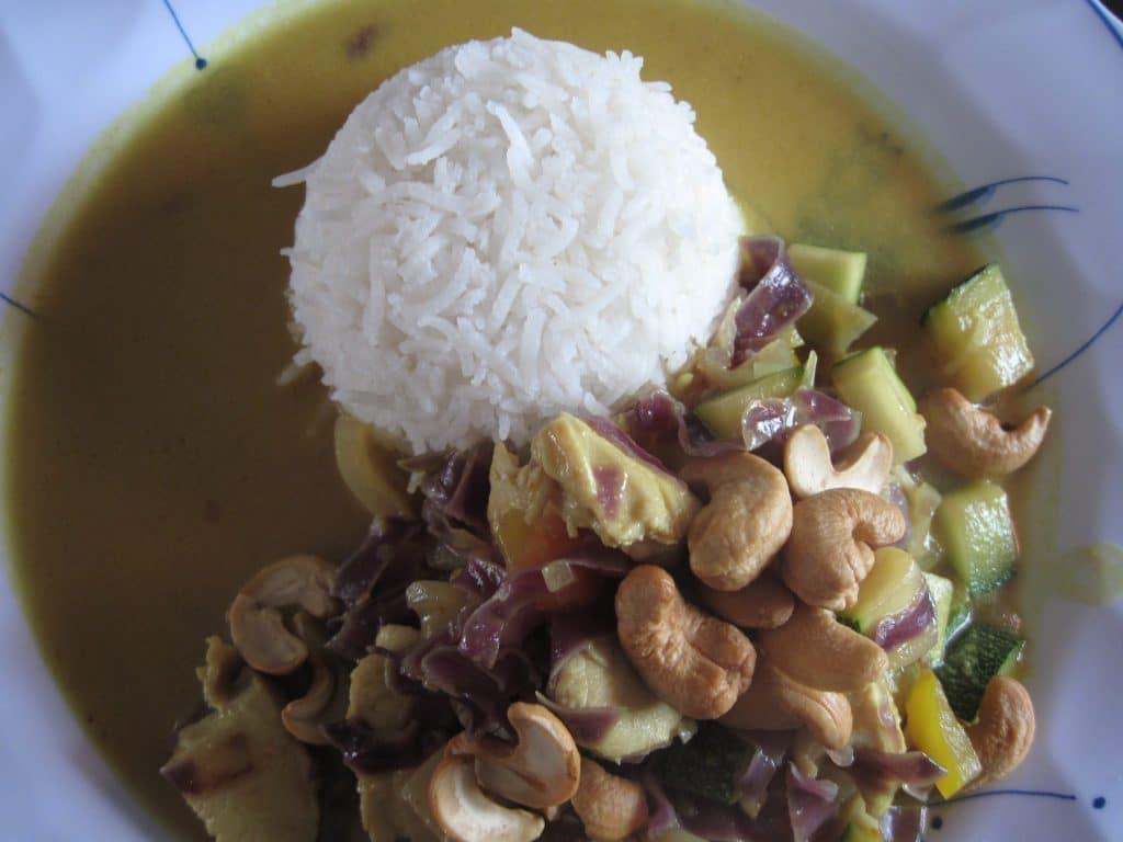 kylling, wok, ris, opskrift, nemt, lækkert, hvad skal vi spise i aften