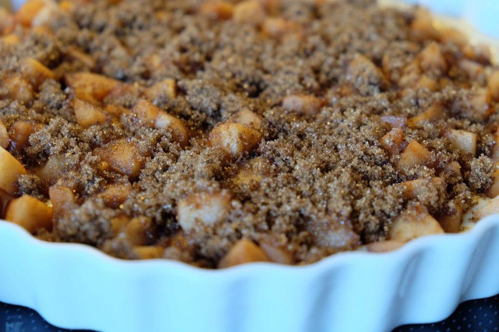 farin, æblekage, opskrift, lækkert, æble, æbler,
