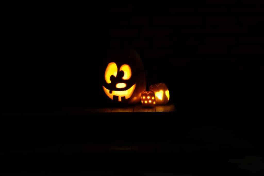 halloween, græskar, udskæring, uhyggeligt, hyggeligt