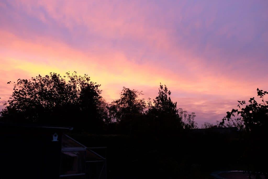 himmelen, morgen, smuk, aalborg