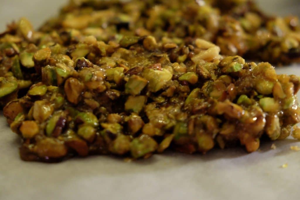 pistacie-krokant, chokolademousse, nytårsdessert, opskrift, lækkert