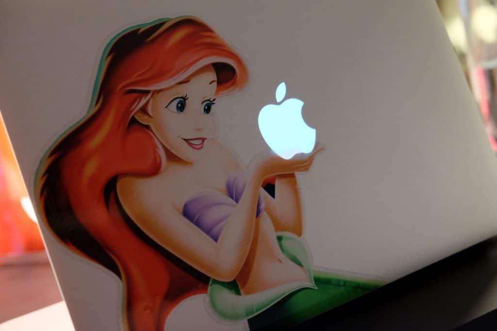 macbook, sticker, stickers, air, pro, den lille havfrue, klistermærke til mac