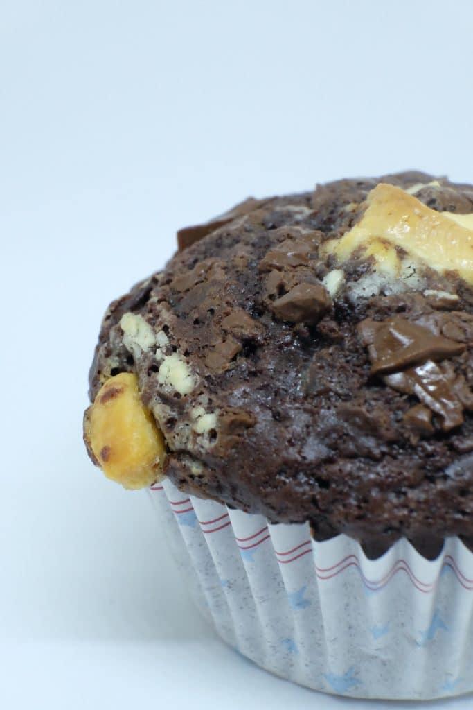 chunky chokolademuffins, opskrift, chokolade, muffins, nem, lækker, velbekomme